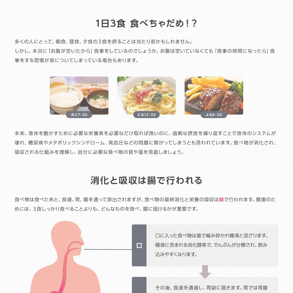 1日3食 食べちゃだめ!? 消化と吸収は腸で行われる
