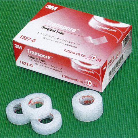 トランスポアー白色 幅12.5mmサージカルテープ