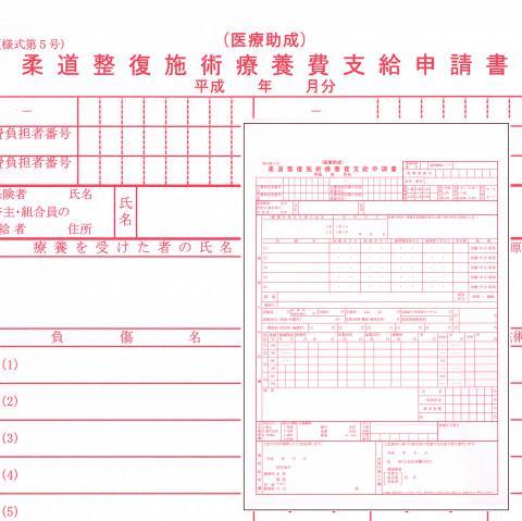 (販売終了)【柔整】医療助成 申請書(レセプト)用紙