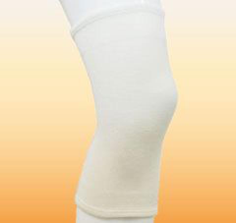 シームレスウールブレンドサポーターひざロング 保温膝サポーター(bonbone)
