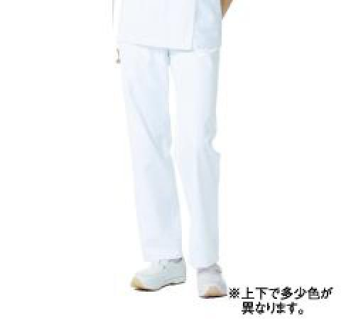 レディススラックス(脇ゴム) ホワイト