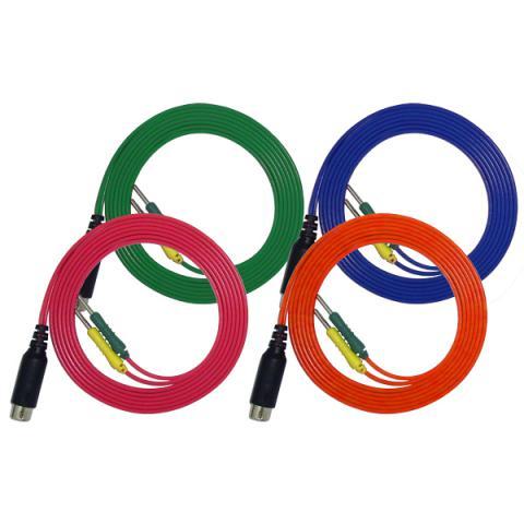 経皮電極コードDIN(4本組)(オームパルサーLFP-2000e付属品)
