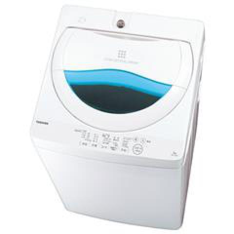 東芝 全自動洗濯機 5kg ステンレス槽 AW-5G5(W)