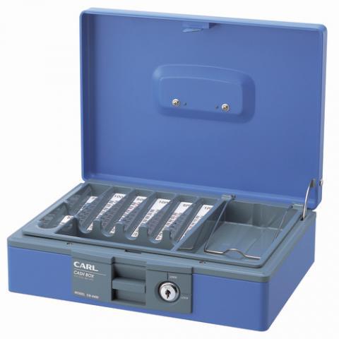 キャッシュボックス コインカウンター内蔵 青