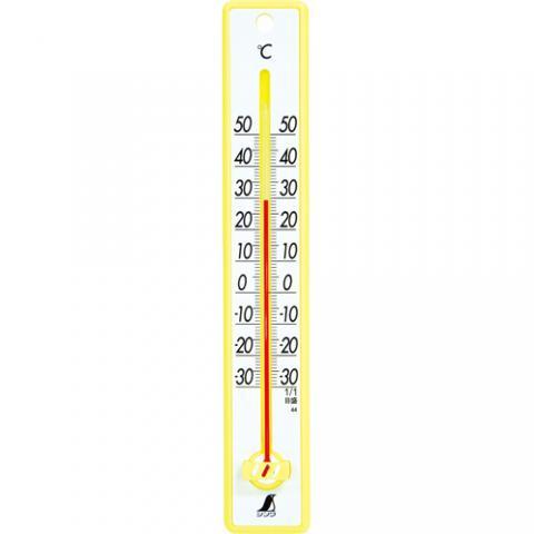 寒暖計 25cm イエロー