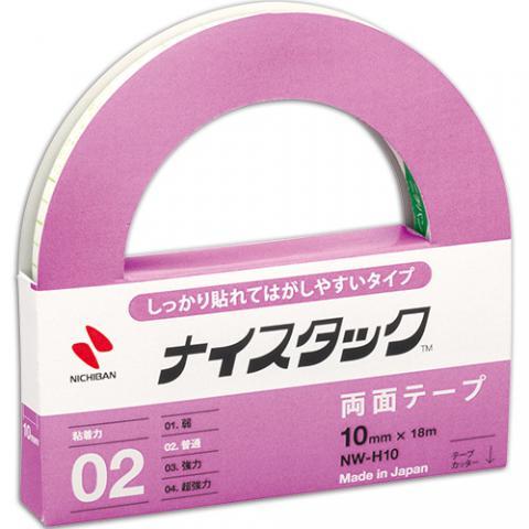ナイスタック シッカリ貼レテはがしヤスイタイプ 大巻 10mm×18m NW-H10