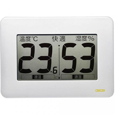 超大画面デジタル温湿度計 CR-3000W
