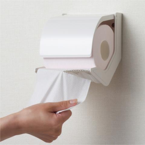 トイレットペーパーホルダー おくだけ 標準タイプ オフホワイト