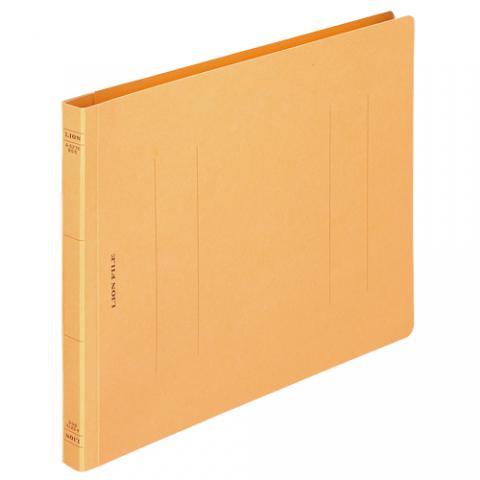 フラットファイル<環境> 樹脂押え具 B5ヨコ 150枚収容 黄 A-527K