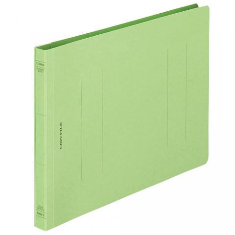 フラットファイル<環境> 樹脂押え具 B5ヨコ 150枚収容 緑 A-529K