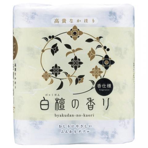 トイレットペーパー 白檀の香り 30m ダブル 4ロール