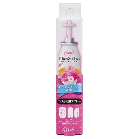 自動でシュパット消臭プラグ ピュアフローラルの香り 付替 39ml