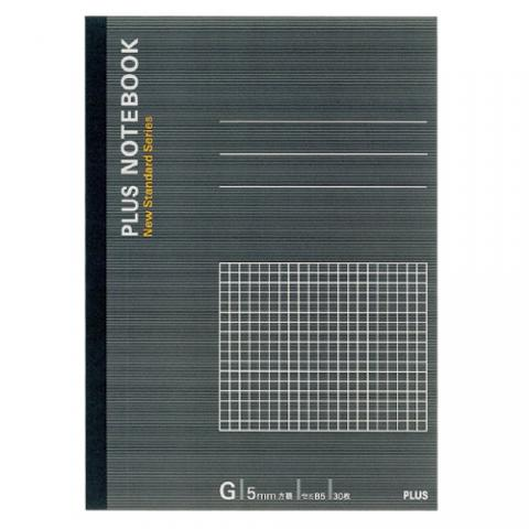 ノートブック セミB5 G罫5mm方眼 30枚 (グレー)