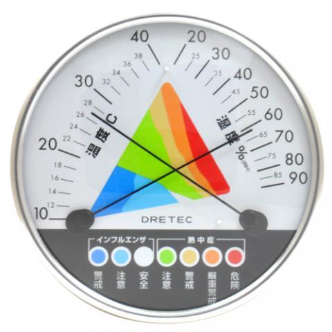熱中症・インフルエンザ警告温湿度計 O-311