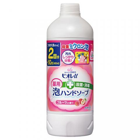 ビオレu 泡デ出テクルハンドソープ フルーツの香り 詰替用 450ml