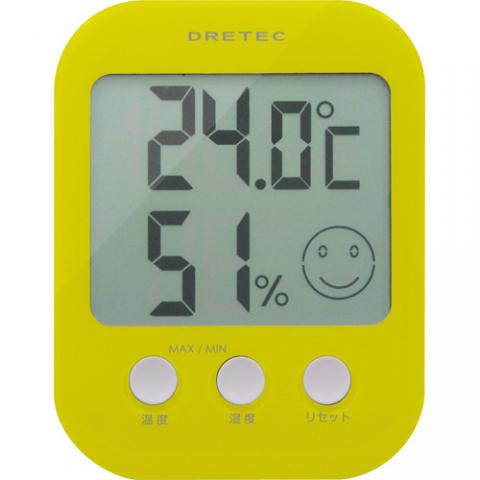 デジタル温湿度計 オプシス O-230 グリーン