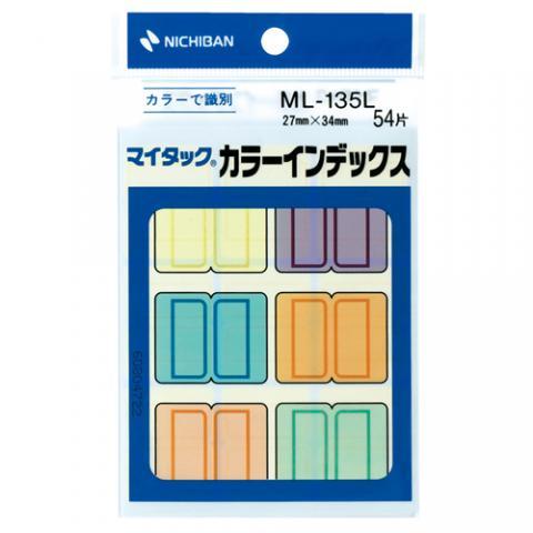 マイタック カラーインデックス 27×34mm 混色 9片×6色