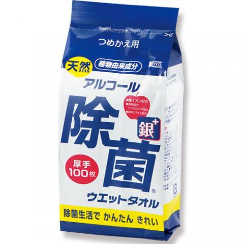 天然アルコール除菌ウェットタオル 詰替用 100枚入