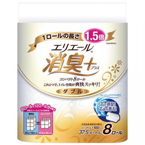 エリエール 消臭+トイレットティシュー コンパクト 8ロール