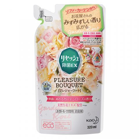 リセッシュ 除菌EX プレジャーブーケ 朝露にぬれるガーデンローズの香り つめかえ用 320ml