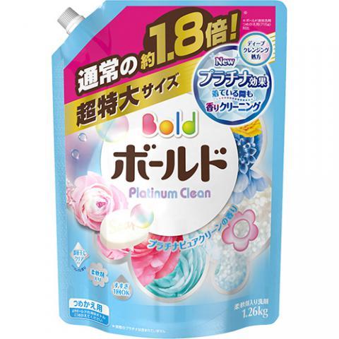 ボールド 液体 プラチナピュアクリーンの香り 詰替用 超特大サイズ 1.26kg