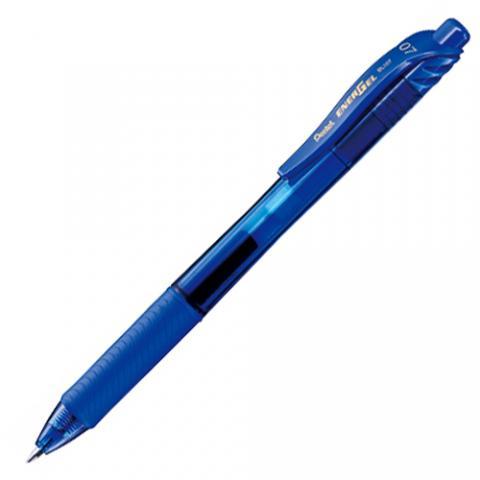 ノック式ゲルインキボールペン エナージェル・エックス 0.7mm 青