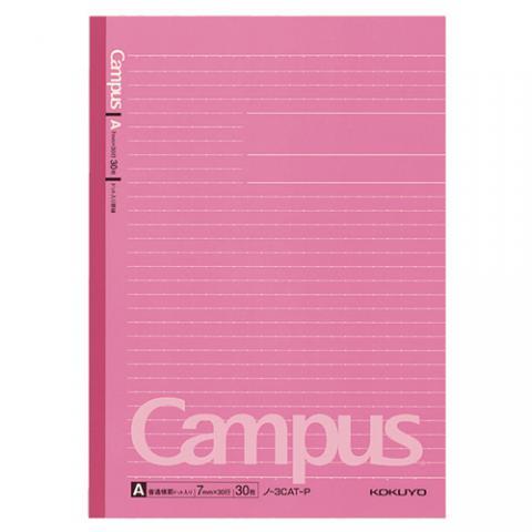 キャンパスノート(ドット入罫線・カラー表紙) セミB5 A罫 30枚 ピンク