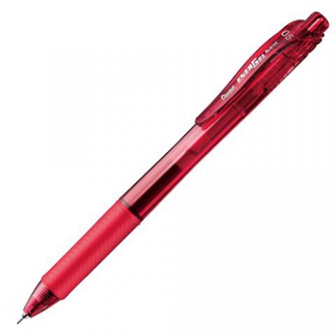 ノック式ゲルインキボールペン エナージェル・エックス 0.5mm 赤