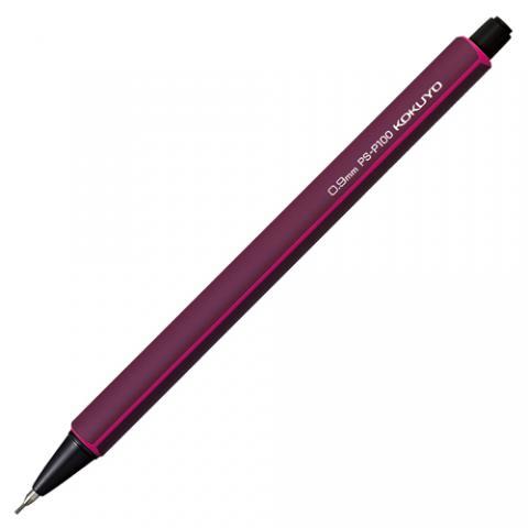 鉛筆シャープ 0.9mm 軸色(ワインレッド)