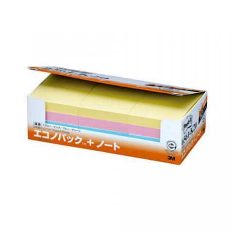 ポスト・イット <エコノパック> 75×50mm 4色混色 100枚×12冊