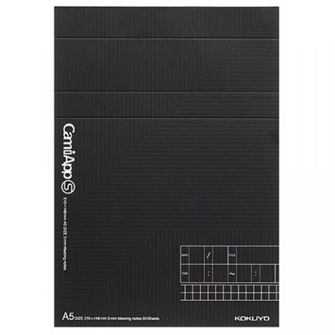 メモパッド〈CamiApp S〉 A5 打合セ記録 50枚 5冊