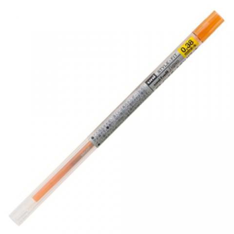 ゲルインクボールペン リフィル 0.38mm オレンジ 10本