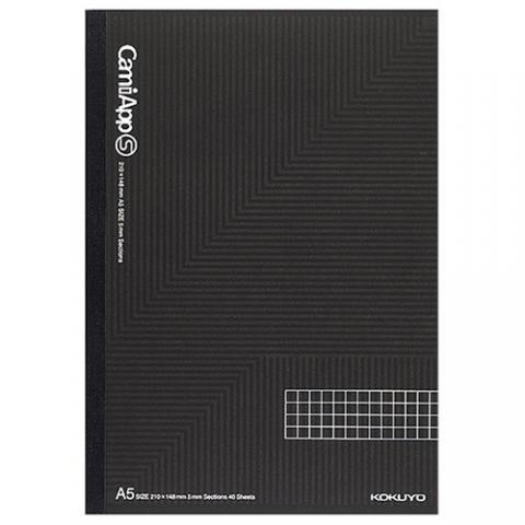 ノートブック<CamiApp S> A5 5mm方眼罫 40枚×3冊