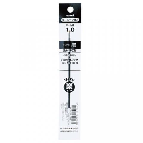 三菱鉛筆 VERY楽ノック太字用替芯 1.0mm 黒 10本入