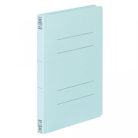 フラットファイルV(樹脂製とじ具) A5タテ 2穴 150枚収容 青 10冊
