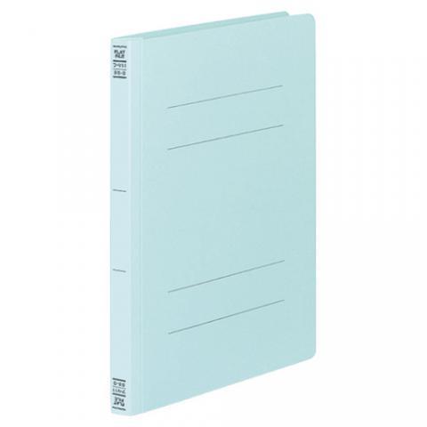 フラットファイルV(樹脂製とじ具) B5タテ 2穴 150枚収容 青 10冊