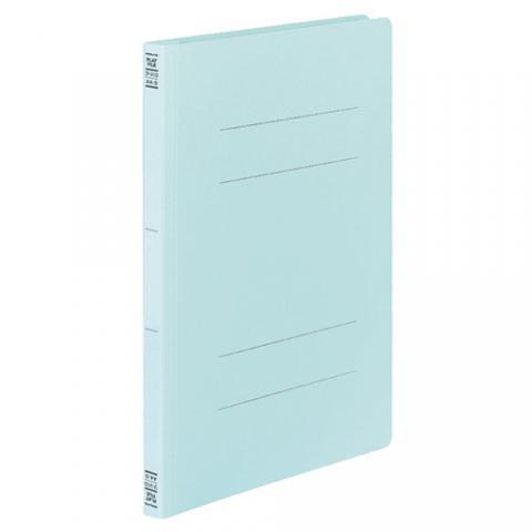 フラットファイルV(樹脂製とじ具) A4タテ 2穴 150枚収容 青 10冊