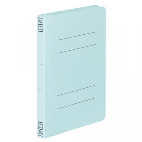 フラットファイルV(樹脂製とじ具) B6タテ 2穴 150枚収容 青 10冊