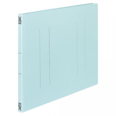 フラットファイルV(樹脂製とじ具) A3ヨコ 2穴 150枚収容 青 10冊