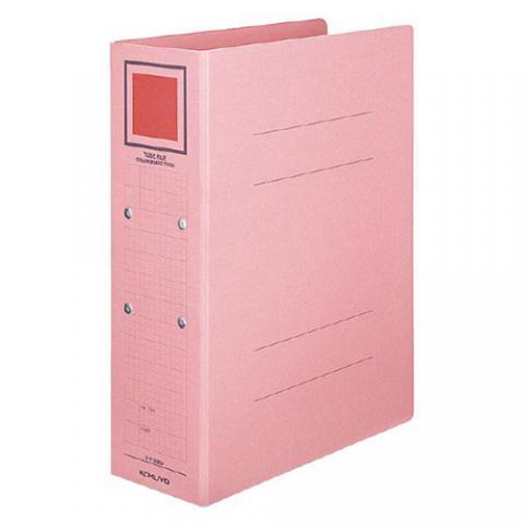 チューブファイル<カラーボードツイン> A4タテ 50mmとじ ピンク