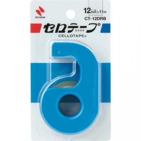 セロハンテープ小巻 カッター付 ブルー 12mm×11m