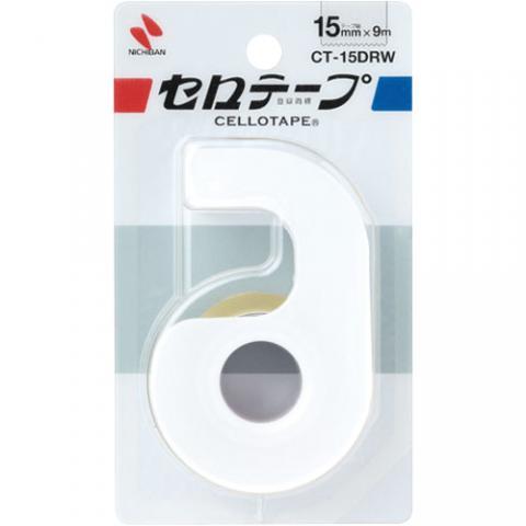 セロハンテープ小巻 カッター付 ホワイト 15mm×9m