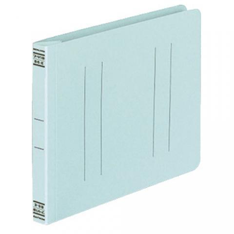 フラットファイルV(樹脂製とじ具) B6ヨコ 2穴 150枚収容 青 10冊