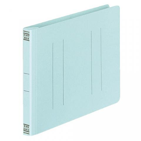 フラットファイルV(樹脂製とじ具) A5ヨコ 2穴 150枚収容 青 10冊