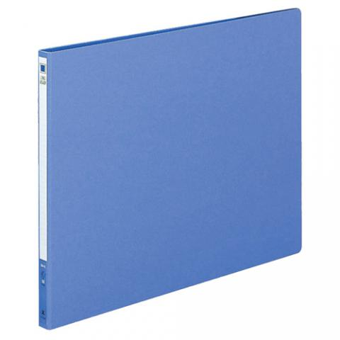 ロングレバーファイル(Z式) 色厚板紙 B4ヨコ 120枚収容 青