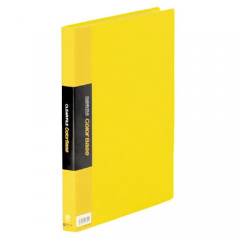 クリアーファイル カラーベース A4タテ 40ポケット 黄