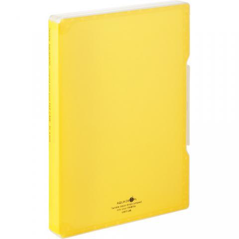 AQUA DROPs ファイルケース A4 270枚収容 背幅30mm 黄