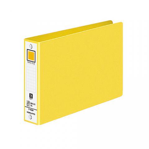 リングファイル 色厚板紙 B6ヨコ 2穴 リング内径30mm 黄