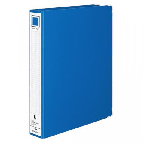 リングファイル 色厚板紙 A4タテ 2穴 リング内径39mm 青