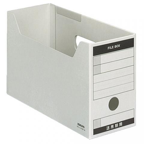 統一伝票用ファイルボックス B4 1/3ヨコ グレー